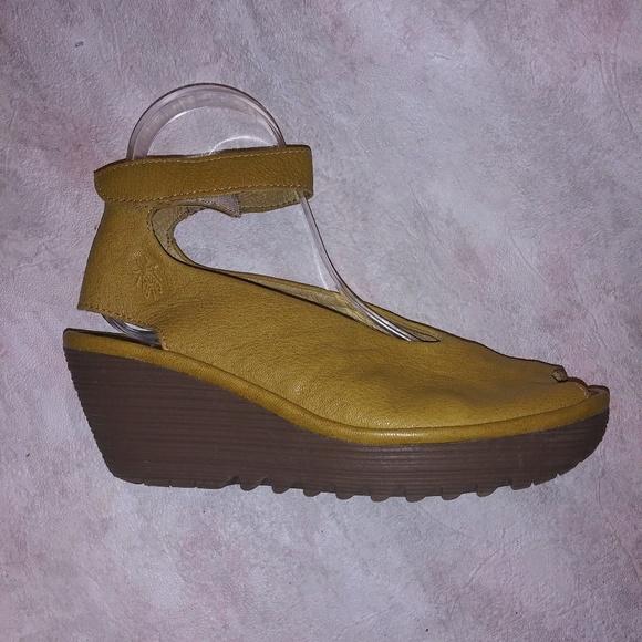 03b8ef094e Fly London Shoes | Womens Yala Wedge Pump Sandals | Poshmark